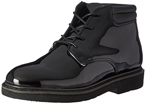 Rocky Men's Dress Leather High Gloss Chukka Boots,Black,10 W