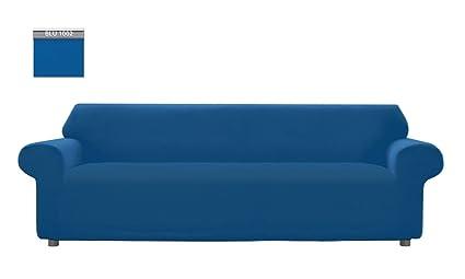 Divano Reclinabile 4 Posti : Copridivano genius tinta unita per divano xl posti colore blu