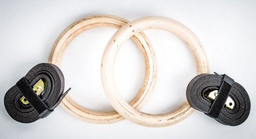 Free Shipping!! Wood Fitness GYM Rings by Fitness Solutions