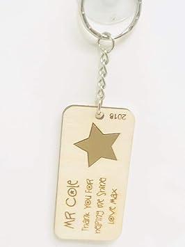 FSSS Ltd - Llavero con Grabado Personalizado con Estrella de ...