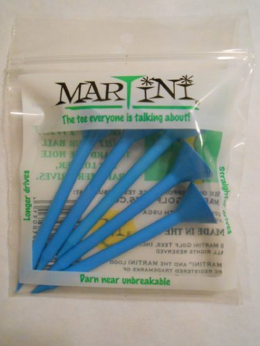 "J & M Martini Tee (5 Pack), 3"", Blue"