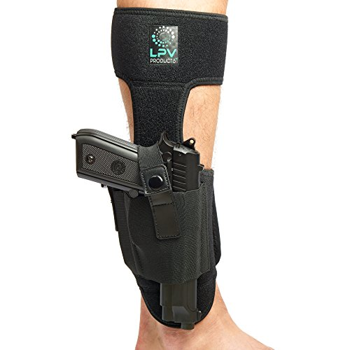 Ankle Holster For Concealed Carry Gun + Pistol Cleaning Kit 9 mm | Neoprene Leg Holster with Magazine Pouch Men & Women By LPV PRODUCTS Fits with Glock Ruger LCP Smith and Wesson Bodyguard Sig Sauer