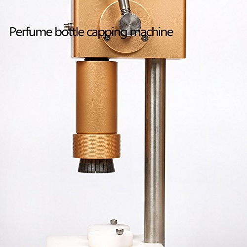 JIAWANSHUN Manual Perfume Crimper Bottle Capper Perfume Press Capping Machine Perfume Cover Crimping Machine Perfume Package Machine Perfume Spray Crimper Bottle Sealing Machine (15mm)