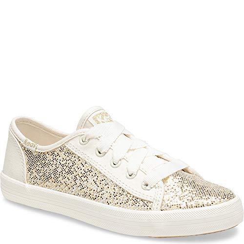 Keds Girls' Kickstart Seasonal Sneaker, Metallic Sparkle, 13 M US covid 19 (Keds Childrens Shoes coronavirus)