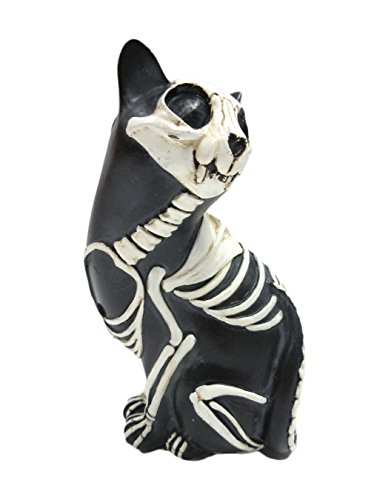 Pacific Giftware Day of The Dead Cat Meowing Dia De Los Muertos Cat Sugar Skull Cat Halloween Day of The Dead Decor 6 inch Tall (Single Cat B) -