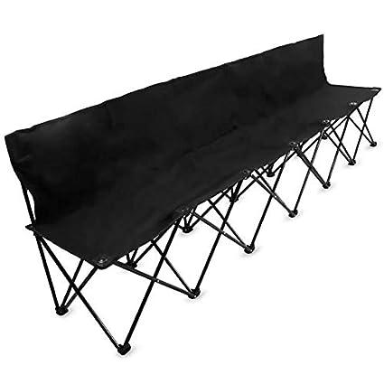 Superb Amazon Com Jur Global Portable Folding 6 Seat Bench With Dailytribune Chair Design For Home Dailytribuneorg