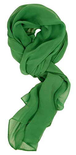 Green Chiffon Scarf - Love Lakeside Modern Chiffon Solid Color Silk Blend Oblong Scarf Kelly Green