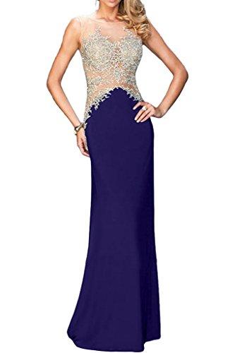 ivyd ressing robe & tuell populaire Motif dentelle mommé Prom Party robe robe du soir -  Violet - 36