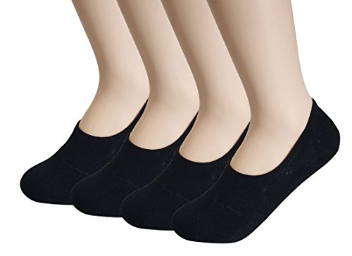 No Show Socks for women Comfortable Non Slip Casual Socks for indoor and outdoor activities Black/220-250mm from A.Two
