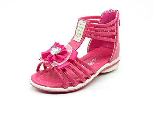 Angels Thongs (EASY21 Infant Baby&Toddler Girl Open Toe Sandals Angel-08,Fuchsia,Size 4)