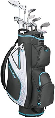 TaylorMade Golf Kalea Complete Golf Set Dr, 3FW, 5FW, 5H, 6H, 7-PW, SW, Putter, Bag