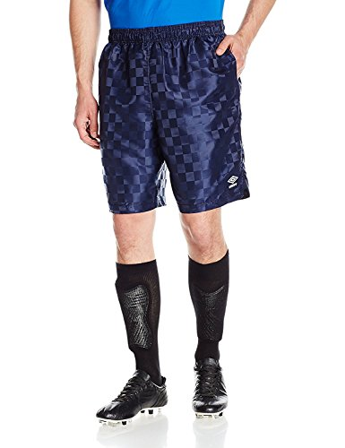 Umbro Men's Classic Checkerboard Shorts, Navy/White, - T-shirt Umbro Soccer