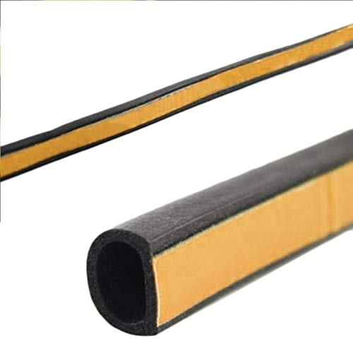 ghfcffdghrdshdfh 4m Foam Draught Excluder D Type Seal Strip Insulation for Car Door Window