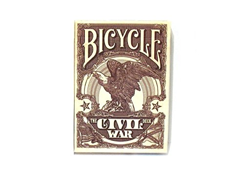 (Bicycle Civil War Poker Size Standard Index Playing Cards)