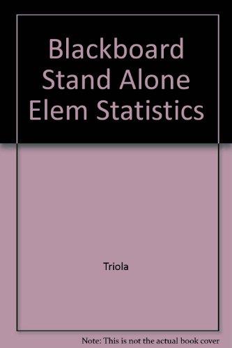 Blackboard Stand Alone Elem Statistics (9th Edition)