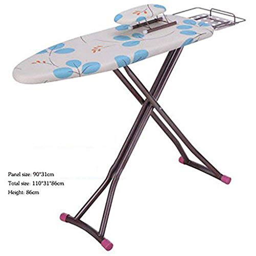 TT&CC Non-Slip Iron Board, 6 Step Height adjusttable Strong Legs Stretch Space Saving Extra Thick Cotton Durable Foldable Ironing Board-C - Quiet Board Ironing