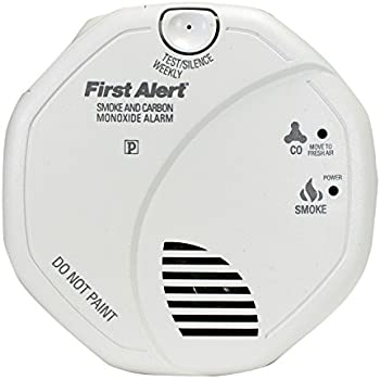 First Alert BRK SC7010B Hardwire Combination Smoke and Carbon Monoxide Alarm with Battery Backup