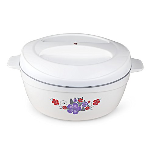 Cello Roti Plus Plastic Casserole with Lid, 2.5 Liters, White/Grey Price & Reviews