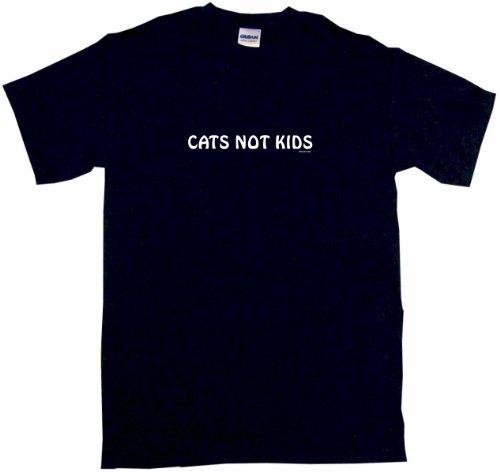 Cats Not Kids Men's Tee Shirt 4XL-Black
