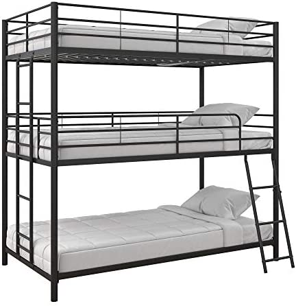 Max Finn Triple Bunk bed, Twin Twin Twin, Black
