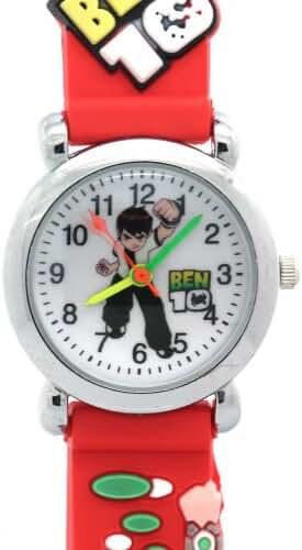 Ben 10 Toy Line Round Dial Red Rubber Strap Kids Watches