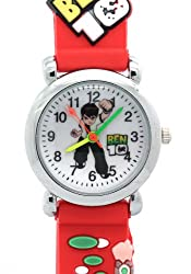 Ben 10 Toy Line Round Dial Red Rubber Strap Kids Watches