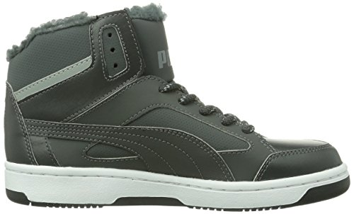Puma PUMA Rebound v.2 Hi Winter - zapatillas deportivas altas de material sintético unisex gris - Grau (dark shadow-limestone gray 01)