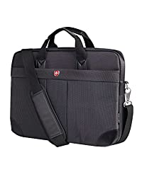 Swiss Gear International Carry-On Size Notebook Bag - Holds Up to 15.6-Inch Laptop, Black