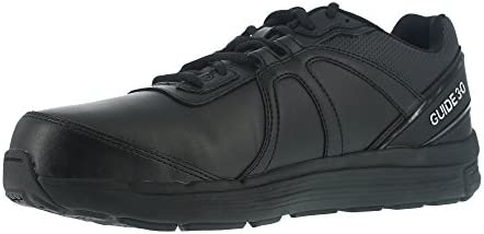 Reebok Mens Black Leather Work Shoes St Oxford Guide 4 W