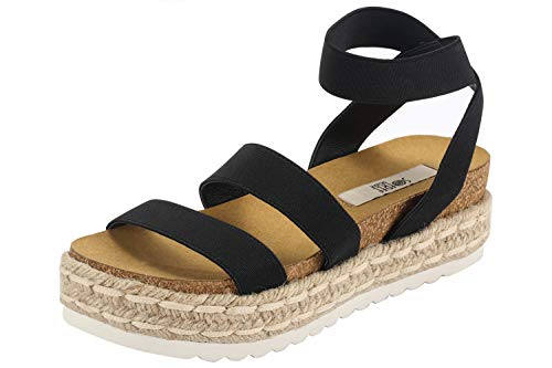 - Sofree Women's Ankle Strap Wedge Plaform Espadrilles Heel Sandals ...