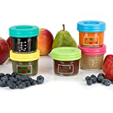Glass Baby Food Storage Containers - Set Contains