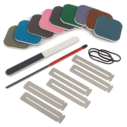 - StewMac Rough Fret Smooth + Shine Set, for Dressing and Polishing Frets