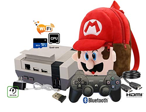 Mini NES Styled Classic preloaded Game Entertainment System Emulator RecalBox Over 10000 Games with USB Bluetooth Dongle Controller HDMI Video TV Game System 720P Kit Raspberry Pi 3 B Retro Gaming