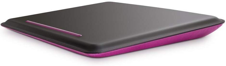 Belkin F8N143 Portable Notebook Cushdesk Comfort Lap Desk for Laptops up to 18.4 inch - Black/Pink