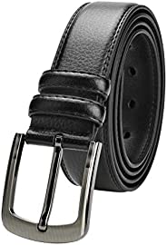 "Men's Leather Belt 35""-63"" Waist Regular and Big & Tall Sizes,Bl"