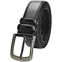 "Men's Leather Belt 39""-63"" Waist Regular and Big & Tall Sizes,Black & Brown Colors"
