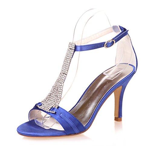 Rhinestones Women's Glittery Sandals Monie Blue Strappy Dress Evening EqzwOC