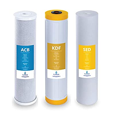 "Express Water – Whole House Heavy Metal Water Filter Set – 3 Stage Filtration Replacement Kit – Sediment, Carbon Block, KDF High Capacity Cartridge – 5 Micron – 4.5"" x 20"" inch"