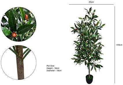 Yatai نبات زيتون صناعي 1 5 متر شجرة صناعية بوعاء عالية في وعاء بلاستيكي للديكور المنزلي والمكتب والحديقة نباتات صناعية Amazon Ae