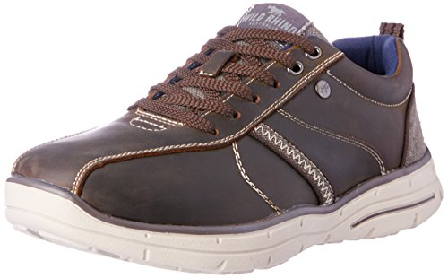 Wild Rhino Men Hayden Trainers Shoes Brown (COFFEE)