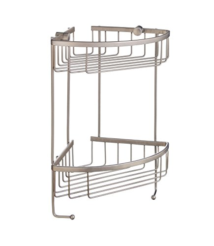 Smedbo SME_D2031N Soap Basket Corner 2 Level, Brushed Nickel