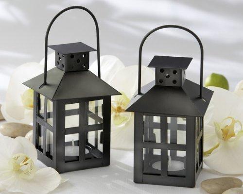 Luminous Black Mini-Lantern Tea Light Holder by FavorOnline (Mini Lanterns Luminous)