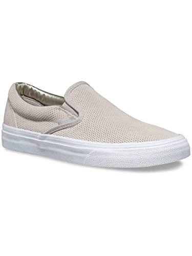 1769cd6618da07 Vans Womens Perf Suede Slip-On Silver Cloud True White Sneaker ...