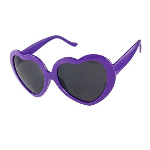 del Gafas de corazón Negro Diseño sol Púrpura de la Providethebest lindo forma Amor q8BgX