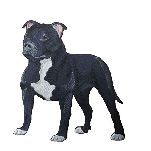 Staffordshire Bull Terrier Pitbull Dog Embroidered Patch (3.5