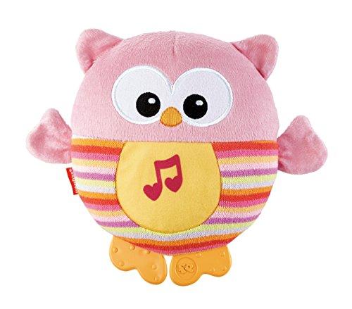 Mattel Fisher-Price CDN88 - Leuchtende Kuschel-Eule, Stoffspielzeug, pink
