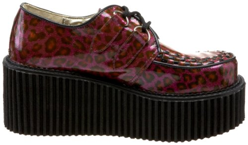 oxford Zapatos Demonia mujer Gltr Purple Pat Cheetah qS55wUrx
