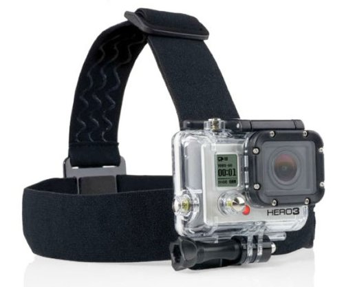 ProGear Adjustable Elastic Strap Head Mount With Anti-Slide For GoPro Hero 4/3+/3/2/1 ()