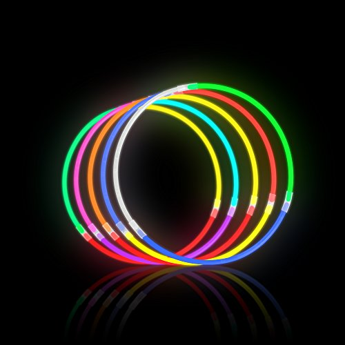 Lumistick 8 Inch 1000 Pack Glow Sticks - Bendable Glow Sticks with Necklace and Bracelet Connectors - Glowstick Bundle Party Bracelets (1000, Assorted) by Lumistick (Image #3)