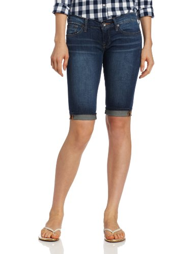 Lucky Brand Women's Bridgette Midrise Bermuda Denim Short, Rainbow, (Rainbow Denim Shorts)